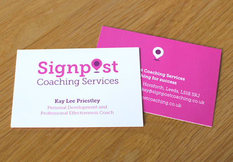 Signpost Coaching Services Business Cards