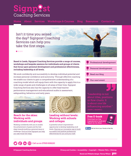 Signpost Coaching Services Website